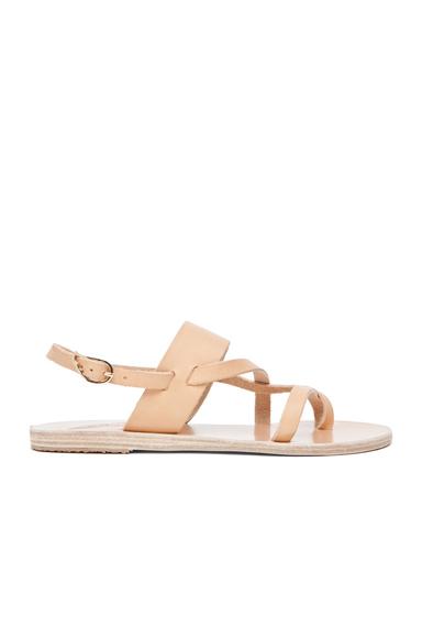 Ancient Greek Sandals Alethea Calfskin Leather Sandals in Neutrals