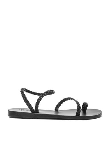 Ancient Greek Sandals Eleftheria Leather Sandals in Black