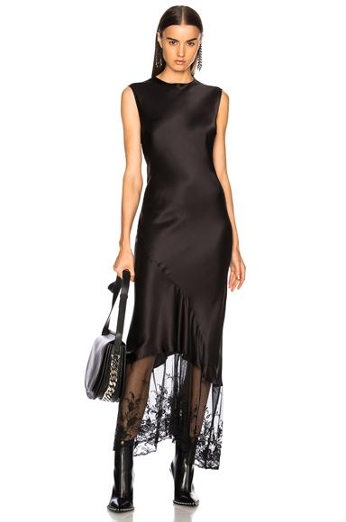 Ann Demeulemeester Sleeveless Midi Dress in Black