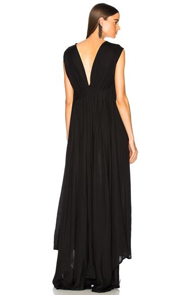 Ann Demeulemeester Sleeveless Maxi Dress in Black