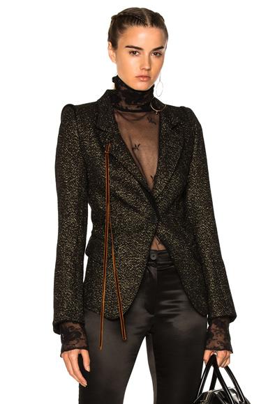 Ann Demeulemeester Blazer in Black, Metallics