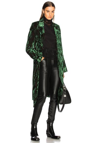 Ann Demeulemeester Velvet Coat in Green