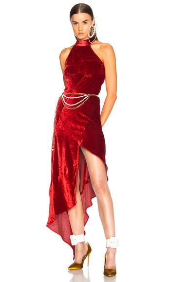 ATTICO Valice Tank Top Dress in Red