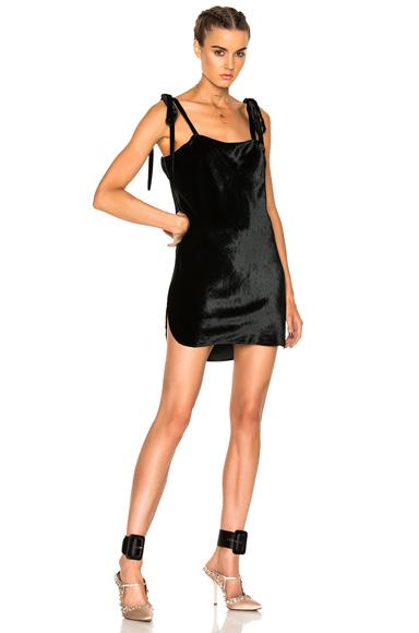 ATTICO Sabrina Velvet Dress in Black. - size 1 (also in 2,4)