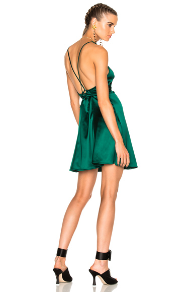 ATTICO Cecilia Dress in Green