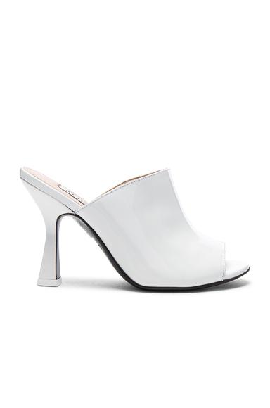 ATTICO Patent Leather Tomaia Slide Heels in White