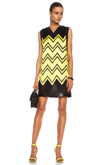 ALEXANDER WANG | Shoe Lace Embroidery Poly Dress in Metropolis