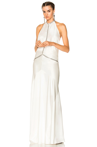 Photo of Alexander Wang Backless Gown in White online womens dresses sales