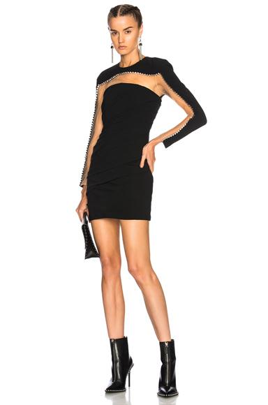 Alexander Wang Pleated Mini Dress in Black