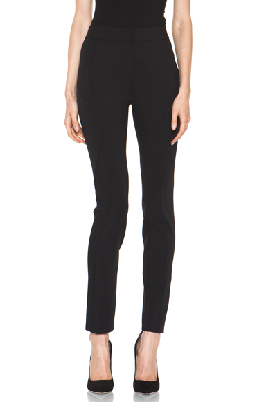 ALEXANDER WANG | High Waisted Contouring Seam Pant in Black