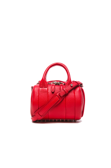Alexander Wang Mini Rockie Bag with Silver Hardware in Red.