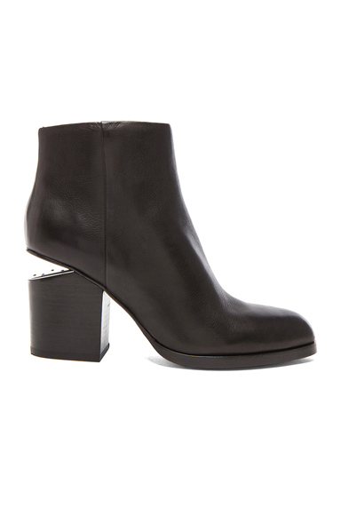 Alexander Wang Gabi Ankle Booties with Silver Hardware in Black