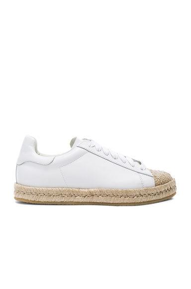 Alexander Wang Leather Rian Espadrilles in White