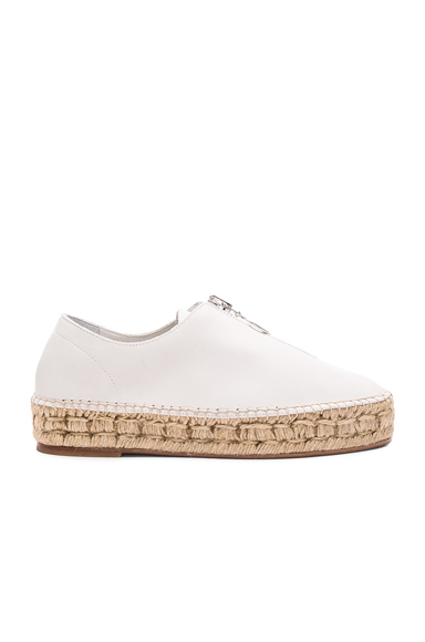 Alexander Wang Leather Devon Espadrille in White