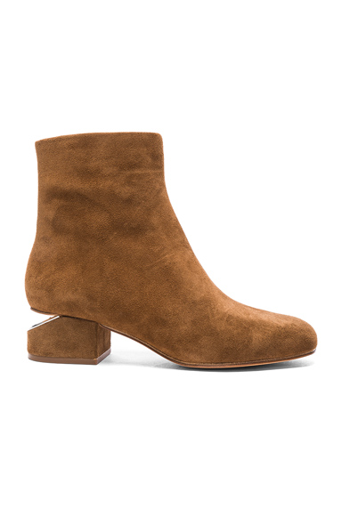 Alexander Wang Suede Kelly Boots in Brown