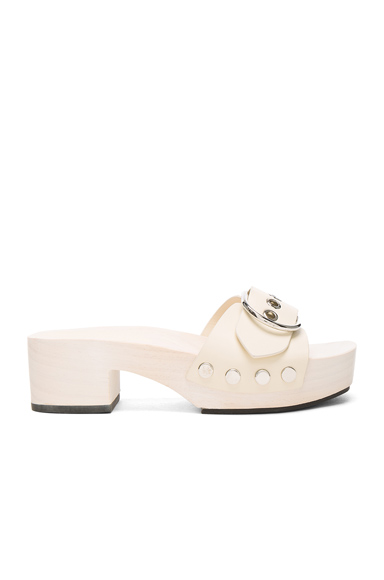 Alexander Wang Leather Maya Sandals in White
