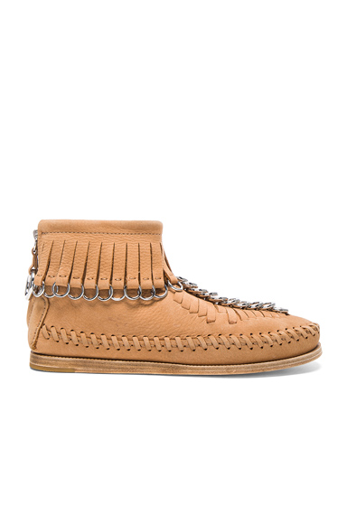 Alexander Wang Leather Montana Booties in Neutrals