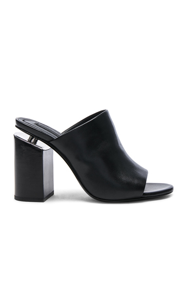 Alexander Wang Avery Leather Mules in Black