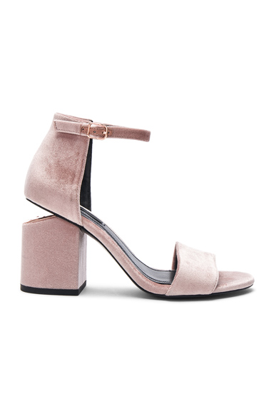 Alexander Wang Velvet Abby Sandals in Pink