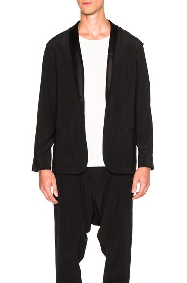 Baja East Satin Back Crepe Jacket in Black. - size 2 (also in )