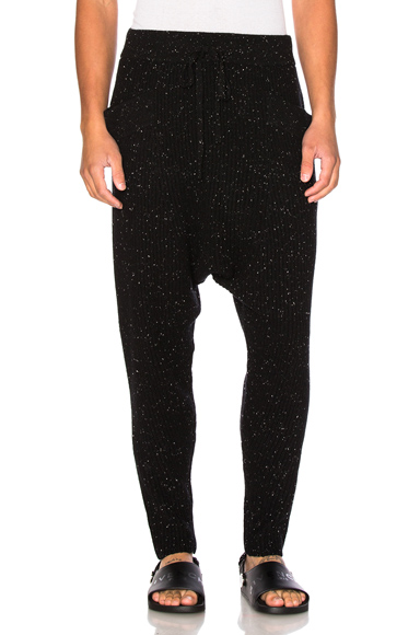 Baja East Cashmere Fisherman Rib Pants in Black. - size 2 (also in 3,4)