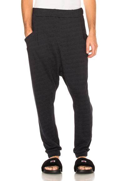 Baja East French Terry Sweatpants in Blue. - size 1 (also in 2)
