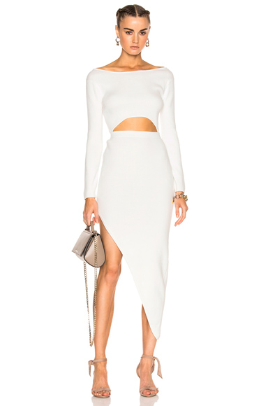 Baja East for FWRD Cut Out Dress in White. - size 0 (also in 00)