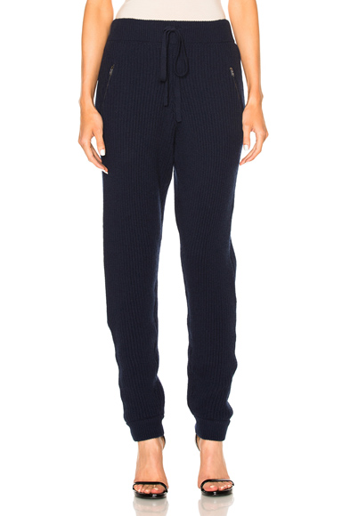 Baja East Cashmere Fisherman Rib Pants in Blue. - size 00 (also in 1,2)