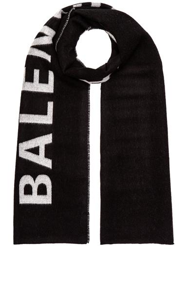 Balenciaga Logo Scarf in Black