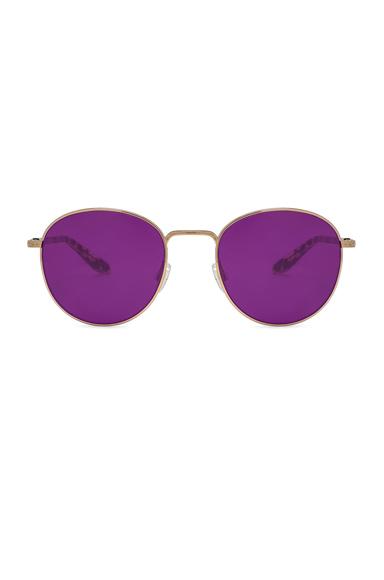 BARTON PERREIRA | Barton Perreira Tudor Sunglasses In Metallic,Purple. | Goxip