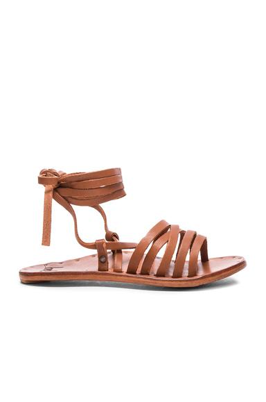 Beek Leather Heron Sandals in Brown