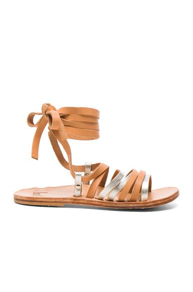 Beek Leather Heron Sandals in Metallics, Neutrals