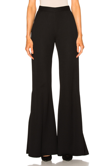 Brandon Maxwell Flare Pant in Black. - size 0 (also in 2,4,6)