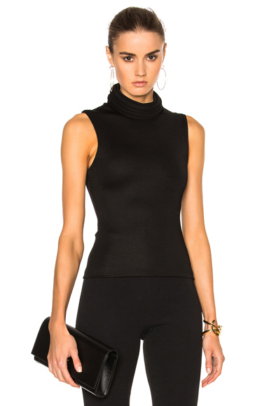 Brandon Maxwell Sleeveless Top in Black. - size 10 (also in 8)