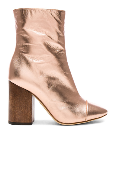 Brother Vellies Leather Bianca Boots in Pink, Metallics