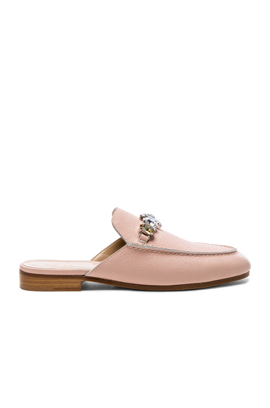Brother Vellies Leather Loafer Slides in Pink