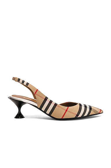 BURBERRY | Burberry Leticia Kitten Heels In Nude. - Size 41 (Also In 35.5,36.5,37,37.5,38,38.5,39,39.5,40) | Goxip