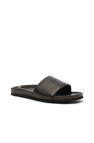 Buscemi Leather Classic Slide Sandals in Black. - size 10 (also in )