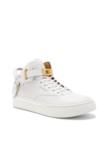 Buscemi 100MM Leather Mid Sneakers in White. - size 40 (also in 41,42,43,45)