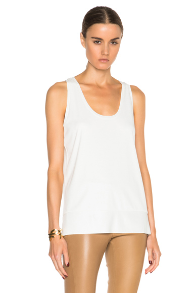 By Malene Birger Partias Tank Top in White. - size L (also in )