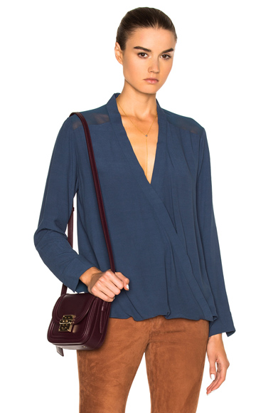 By Malene Birger Hailina Top in Blue. - size 34 (also in )