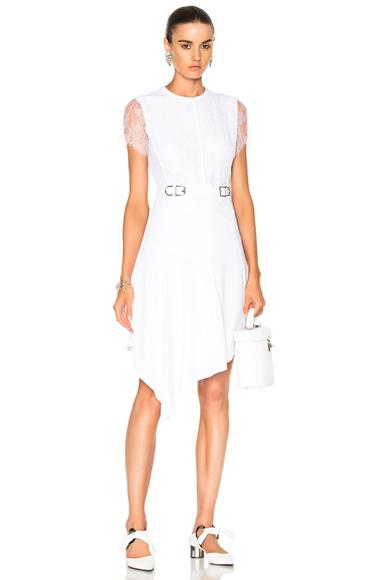 Carven Short Sleeve Dress in White