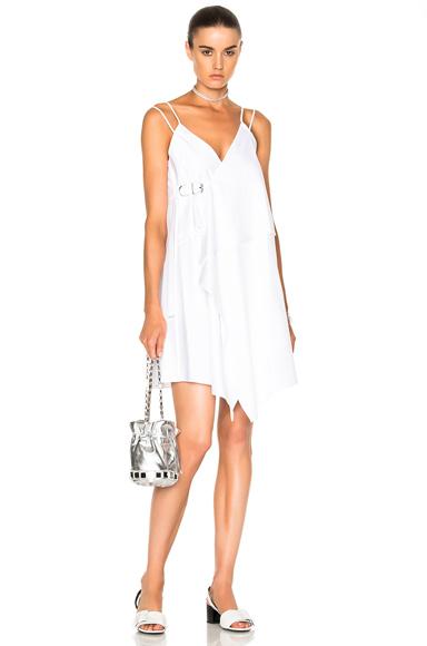 Carven Tank Wrap Dress in White