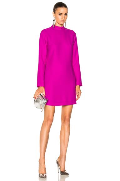 Carven Long Sleeve Dress in Purple