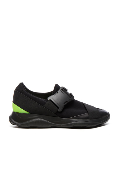 Christopher Kane Low Top Neon Spoiler Sneakers in Black