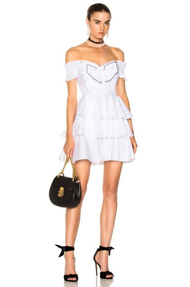 Caroline Constas for FWRD Helena Dress in White
