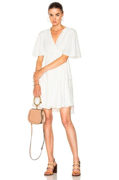 Chloe Light Cady Mini Dress in White