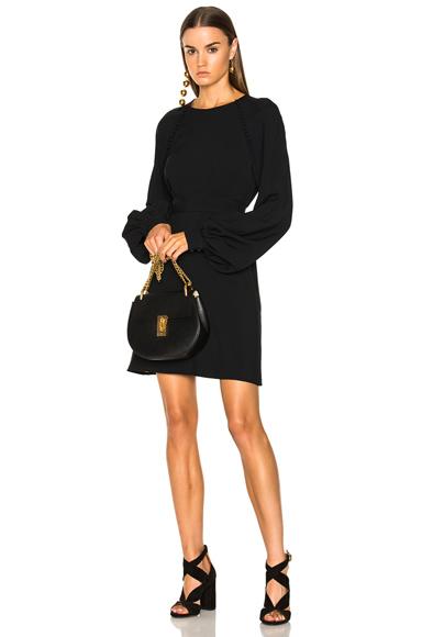 Chloe Light Cady Mini Dress in Black