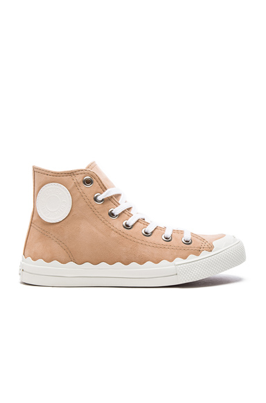 Chloe Suede Kyle Sneakers in Neutrals