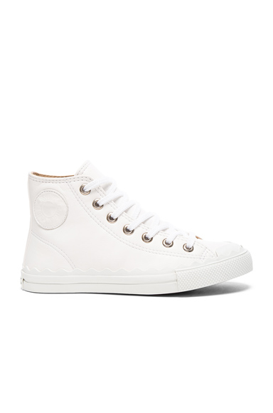 Chloe Leather Kyle Sneakers in White